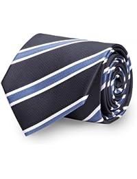 Krawatte von Fabio Farini gestreift in blau schwarz weiß