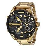 fenkoo Hombres uhrquarz impermeable de deportes reloj calendario auténtica Acero Inoxidable Reloj de pulsera montre Reloj relogio, dorado