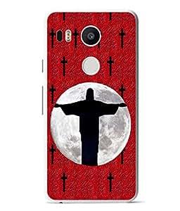 Fuson Designer Back Case Cover for LG Nexus 5X :: LG Google Nexus 5X New (Jusus Jew Cross Church Christianity)