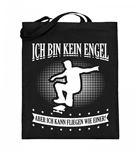 Hochwertiger Jutebeutel (mit langen Henkeln) - Für alle Skateboard Fans!