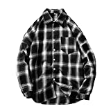 TIFIY Herren Shirt, Herbst Winter bezahlte Bluse Langarm Outwear Pocket Sweatshirts Strickjacke(Schwarz,EU54/CN 4XL)