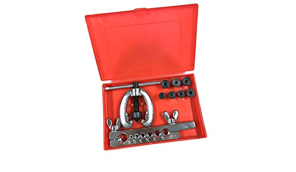 MagiDeal 5-16mm Brake /& Air Line Double Flaring Tool Kit Set Hand Tool With Case