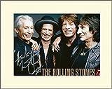 Charlie Watt The Rolling Stones signierte Autogrammkarte, im Passepartout