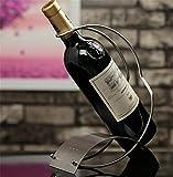 Z & Hao Wein Flasche Rack Edelstahl europäischen Einfache Dekoration Weinflaschenhalter
