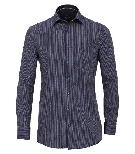 CASAMODA Herren Dobby Hemd gestreift Comfort Fit