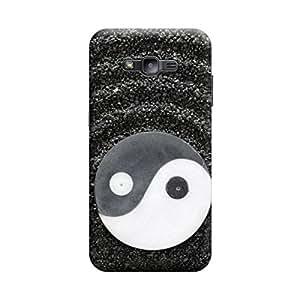 Desicase Samsung J2 Solor System 3D Matte Finishing Printed Designer Hard Back Case Cover (Black)