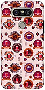 The Racoon Grip printed designer hard back mobile phone case cover for LG G5. (Red Beer F)