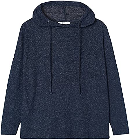FIND Women's Soft Oversized Hoodie, Blue (Navy Marl), 14 (Manufacturer size: Large)