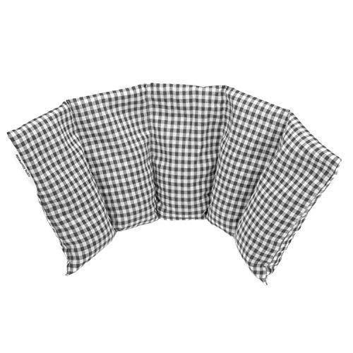 Cuscino flessibile con noccioli di ciliegia 50x20 cm - Prodotto in Germania - Imbottitura: 800 grammi di noccioli di ciliegia; rivestimento: 100% cotone (grigio)