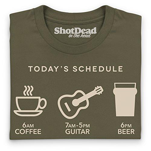 Guitar Days T-shirt, Uomo Verde oliva