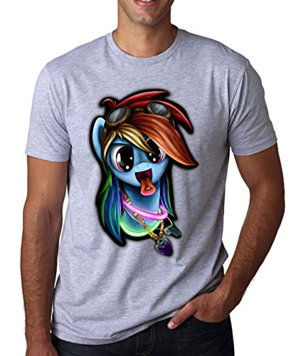 Rainbow Dash Pony Inspired Rave Culture Eat Sleep Herren T-Shirt Weiß Grau Schwarz XX-Large