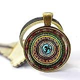 Llavero con símbolo de Om, llavero Om, llavero Namaste, llavero Zen, joyería de yoga,...