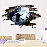 Decal 3D, Thème Halloween 3D Stickers muraux Stickers Amazon Horreur Griffes Autocollants Amovibles Décoration Sol Amovible étanche Fond d'écran