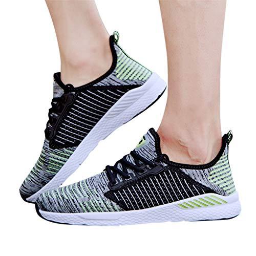 Dorical Unisex Damen Herren Ultra-Light Sportschuhe Laufschuhe Laufschuhe Sportschuhe Sneakers Bequem Schnürer Gym Fitness Atmungsaktives Mesh Turnschuhe Freizeitschuhe 36-46(Grau,37 EU)