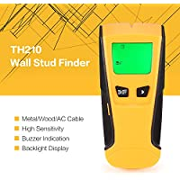 TH210 Digital Handheld Lcd Display Wall Stud Escáner de madera Metal AC Live Wire Cable Detector
