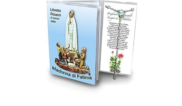 Piccolo Ufficio Della Madonna : Libretto rosario con immagine della madonna di fatima e rosario
