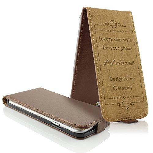 iPhone 6 / 6s Étui, Urcover Housse Coque Téléphone Smartphone Simili Cuir Gris pour Apple iPhone 6 / 6s Case Flip Cover Marron