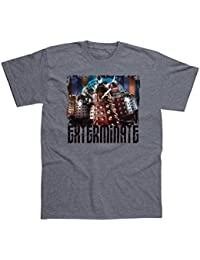 Doctor Who Dalek 'EXTERMINATE' Grey Adults Official T-Shirts