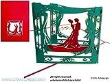 LIN-POP UP Karten Hochzeitskarten, Hochzeitseinladungen, 3D Karten Grußkarten Hochzeit, Hochzeitsglückwunsch, Brautpaar im Pavillon