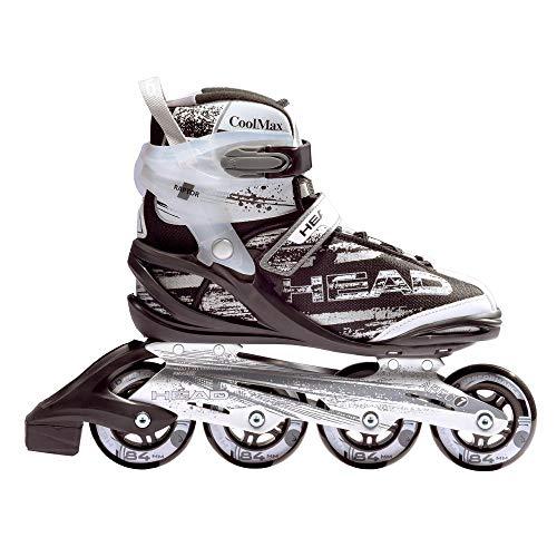 HEAD Fitness Inline Skate Raptor SR - Größe 44, 90mm - 82A Sport Straßen Inliner, ABEC 7 Bearing, Softboot, Rollschuhe in Damen und Herrengrößen