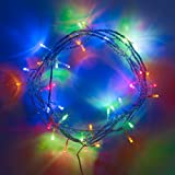 Indoor Fairy Lights with 40 Multi Coloured LEDs on Clear Cable by Lights4fun