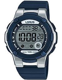 Lorus Watches - R2355KX9 - Montre Femme - Quartz - Digitale - Alarme - Chronomètre - Eclairage - Bracelet Caoutchouc Bleu
