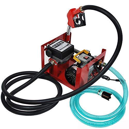 Dieselpumpe LFJD Heizölpumpe selbstansaugend 230V 550W 3600 l/h,mit Schläuchen und Zapfpistole