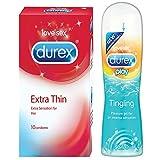 Pleasure Packs (Durex Tingle 50ml, Extra Thin 10s)