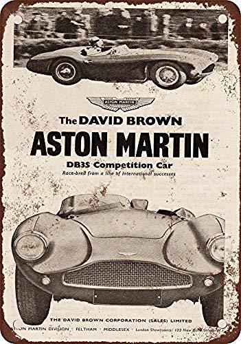 Aston-Martin Dbs Competition Car Metallwand Zeichen Blechschilder Warnung hängen Vintage Kunst Folie Poster Band Malerei Promi Bar Cafe Garten öffentliches Geschenk