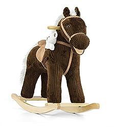 Soft Rocking Horse In Rosa & Violett Rocking Animals Rocking Toys With Sound Effects Rocking Horse, Model:bruno