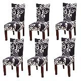YISUN Universal Stretch Stuhlhussen 4er 6er Set Stuhlbezug für Stuhl