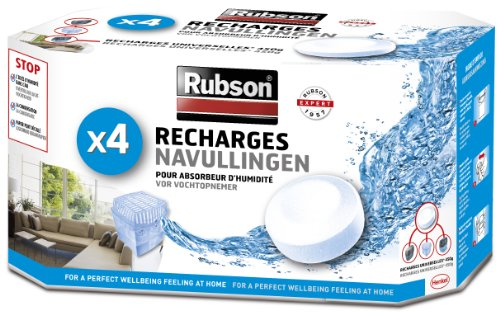 Rubson 1852170 Déshumidificateur d'air 4 Recharges Blanc