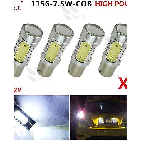 ZQQ 4x bianco ad alta potenza BAU15s 1156py segnale del freno di coda 7.5W ha condotto le lampadine 7507 , natural white