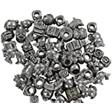 Quiges 10 x Perlen Mix von Charm Beads-Glass Beads für Pandora style Armbänder und Ketten