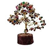 Feng Shui Natural cristal de curación Gemstone Multicolor Bonsai árbol de fortuna para buena suerte, riqueza y prosperidad libre 4Divine de incienso Cono