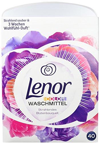 Lenor Colorwaschmittel Pulver Strahlendes Blütenbouquet, 40Waschladungen