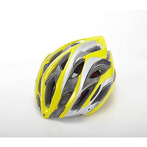 TKWMDZH® Europei e americani bicicletta casco mountain bike equitazione bici da corsa in un casco , yellow