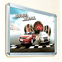 (Pack/5units) Silver Round Corner Snap-Open Quick Change Poster Frame (16x24inch)
