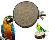 Vogel Baumscheibe Käfigzubehör Sitzgelegenheit Echtholz Holz ca. 7 cm