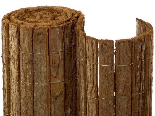 NOOR Rindenmatte Country 1,50 x 3m I Natürliche Baumrinden-Sichtschutzmatte I Wetterfester, robuster Balkonzaun I…