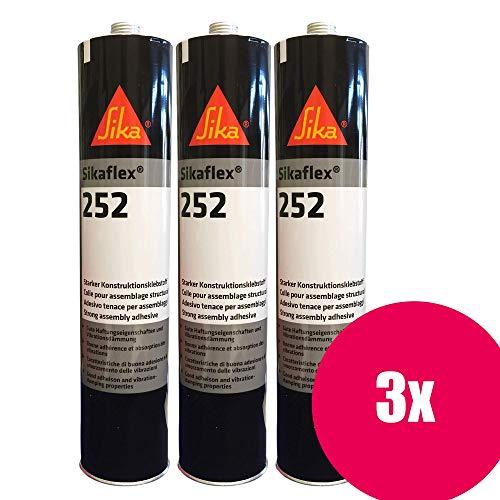 Preisvergleich Produktbild Sikaflex 252 weiß 3er 300ml (=900ml)