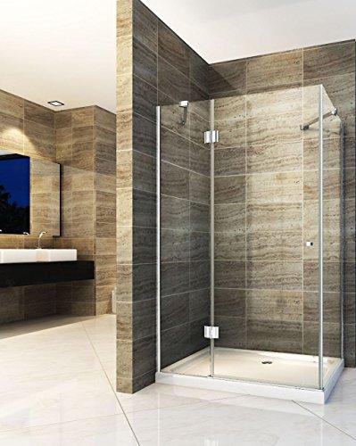 Duschkabine NORMA 120 x 90 x 190 cm ohne Duschtasse
