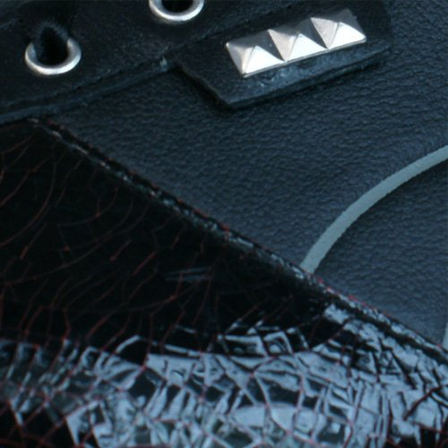 Puma Biker 5000 Frauen-Leder-Sneaker / Schuhe Black