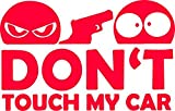 Don't Touch My Car Autoaufkleber Sticker JDM Fun rot ca. 10x6 cm