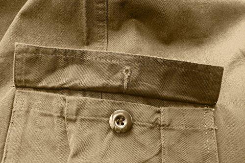 Wantdo Pantaloncini Uomo Young Army Cargo Con Cinta e Tasche Larghi Cachi