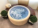 POWERHAUS24 Softub® Whirlpool Ausstellungsmodell Sportster Farbe Almond/Blue mit Abdeckung