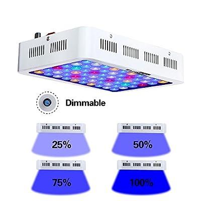 Qnlly Aquarium Llight 180W Dimmable LED Aquarium Lumières Lampe Corail pour Marine Aquarium Fish & Dimmer Professionnel Aquatique Éclairages