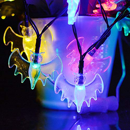 Solar LED Halloween Kürbis Lichter String Ghost