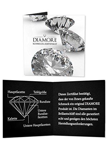 DIAMORE- Colliers- Femmes-Diamant- Blanc- 0.06 ct. Argent