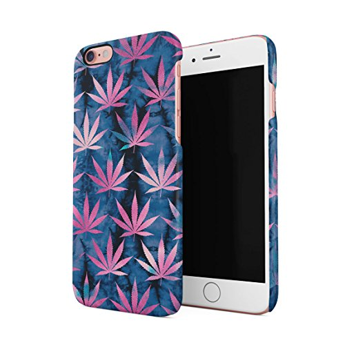 Tie Dye Cannabis Leaves Pattern Dünne Rückschale aus Hartplastik für iPhone 6 Plus & iPhone 6s Plus Handy Hülle Schutzhülle Slim Fit Case cover